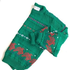 Vintage Mel O Drama Green Ugly Christmas Sweater